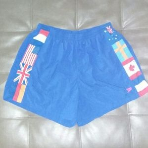 L Vintage 80s Speedo Swim Trunks Shorts rap rock